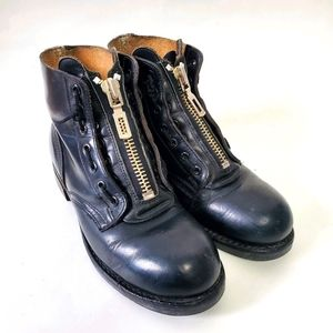 Vintage 1997 HH Brown steel toe boots Size 5